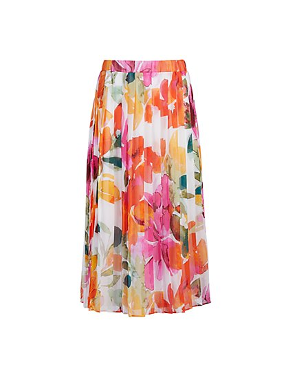Bellaflora Knife-Pleat Skirt - Eva Mendes Fiesta Collection - New York & Company