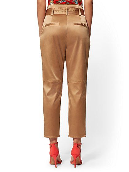 2d48ffa70 ... Belted Ankle Pant - Tan -7th Avenue - New York & Company