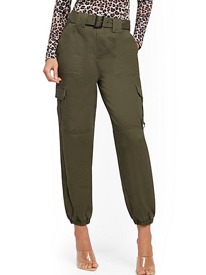 Belted Cargo Jogger Pant - New York & Company