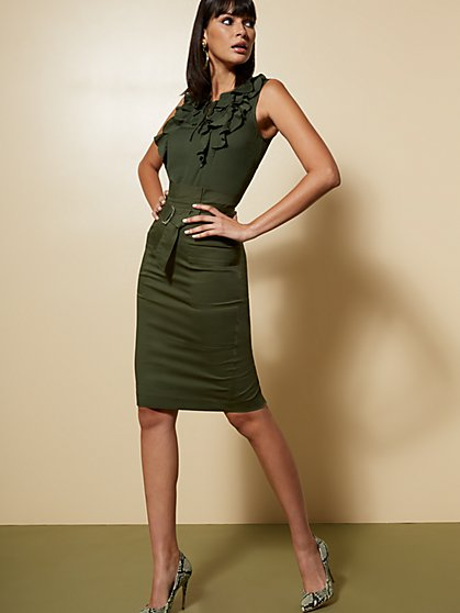Belted Cargo Pencil Skirt - 7th Avenue - New York & Company