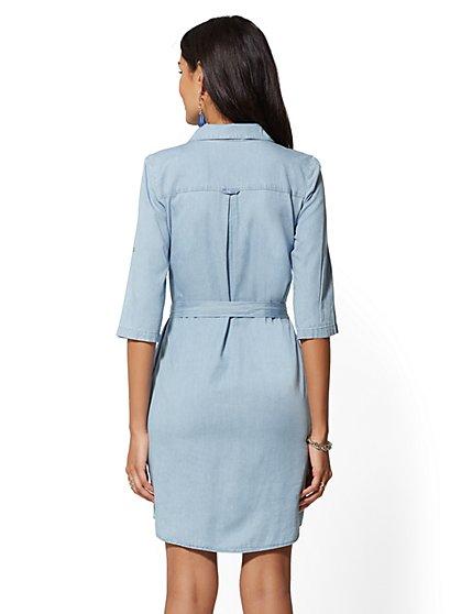 ea8be22297 ... Belted Denim Shirtdress - New York   Company
