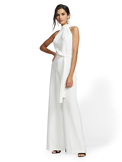 Belted Halter Jumpsuit - New York & Company