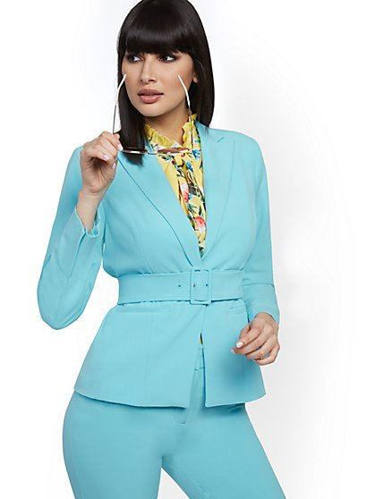 Belted One-Button Blazer - 7th Avenue - New York & Company