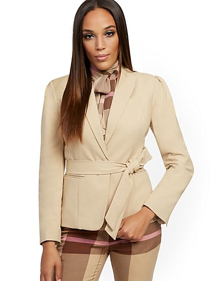 Belted One-Button Jacket - 7th Avenue - New York & Company