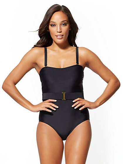 5f14131e3d4 Belted One-Piece Swimsuit - NY&C Swimwear - New York & Company ...