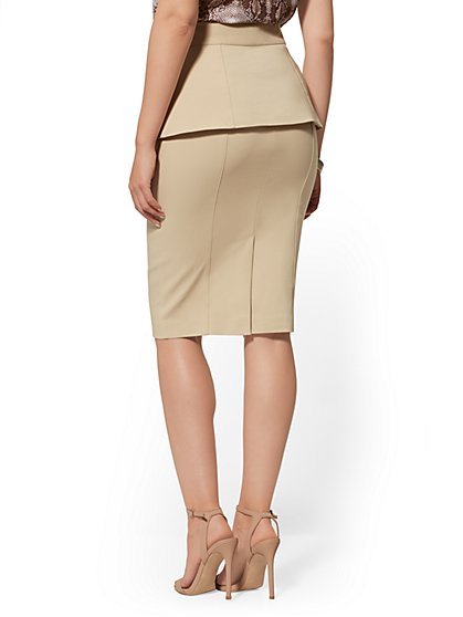 8144b9e2c ... Belted Overlay Pencil Skirt - All-Season Stretch - New York & Company