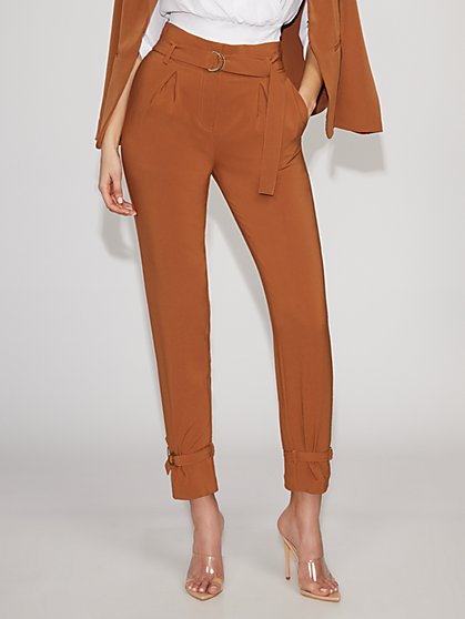 Belted Paperbag-Waist Pant - Gabrielle Union Collection - New York & Company