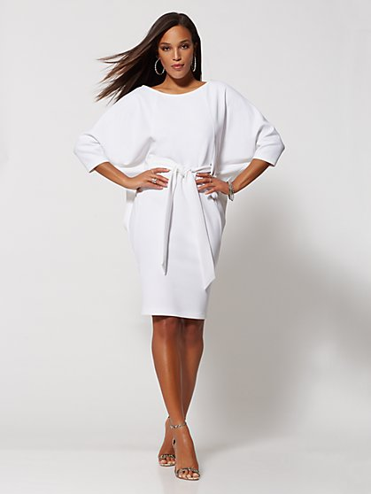 Belted Ponte Shift Dress - Gabrielle Union Collection - New York & Company