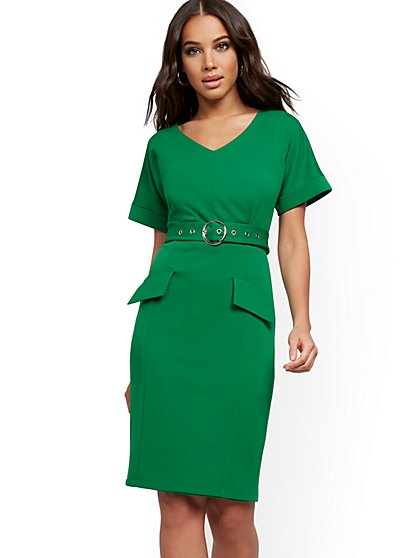 Belted Sheath Dress - Magic Crepe® - New York & Company