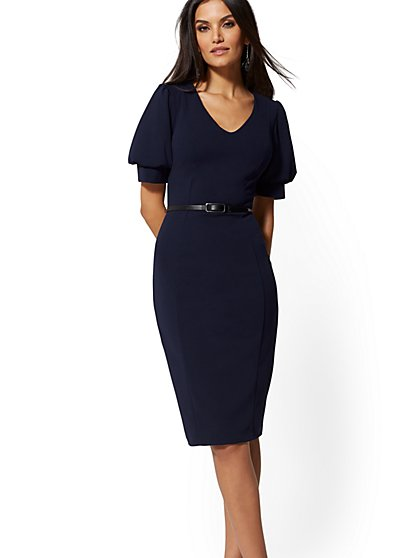 Belted Sheath Dress - Magic Crepe - New York & Company