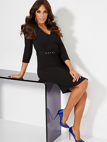 Belted Sheath Dress - Super Flex - New York & Company
