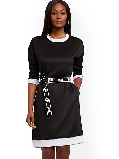 Belted Shift Dress - New York & Company