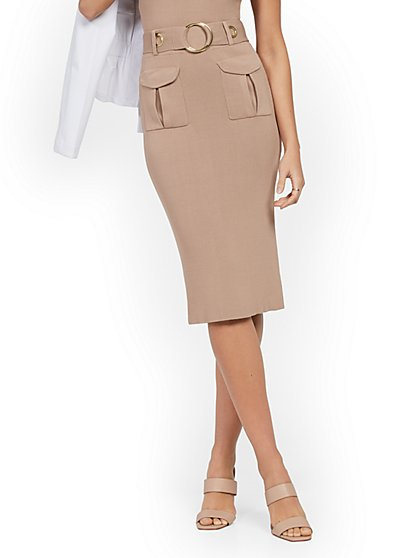 Belted Sweater Skirt - New York & Company
