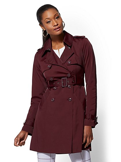 Belted Trench Coat - 7th Avenue - New York & Company