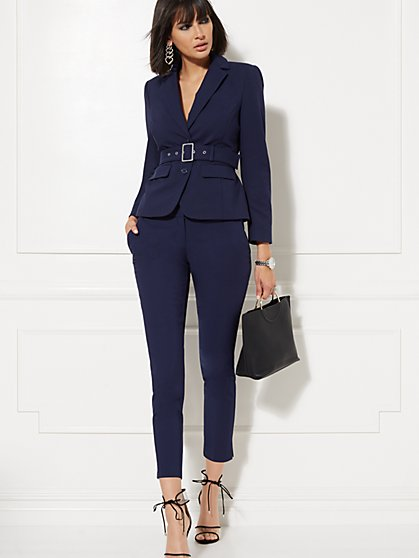 Belted Two-Button Jacket - All-Season Stretch - 7th Avenue - New York & Company