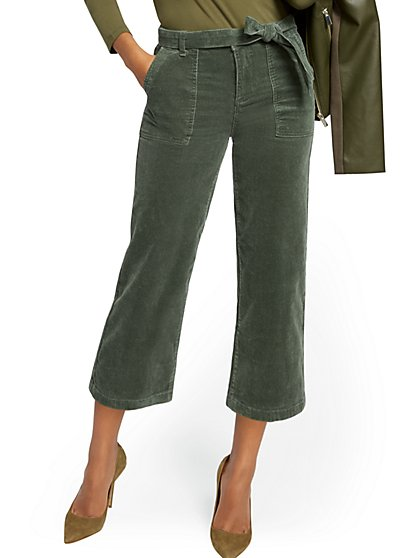 Belted Wide-Leg Corduroy Pant - New York & Company
