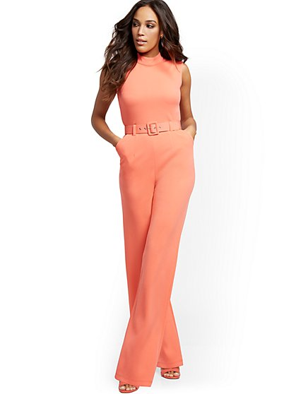 Belted Wide-Leg Jumpsuit - Magic Crepe® - New York & Company