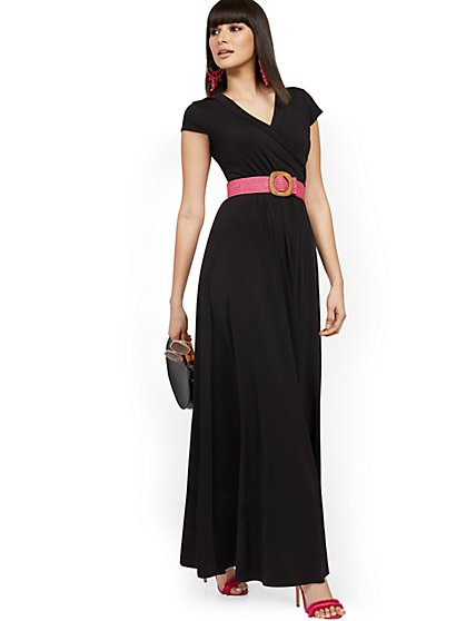 Belted Wrap Maxi Dress - New York & Company