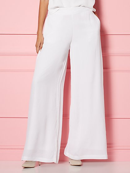 Bernadette White Palazzo Pant - Eva Mendes Party Collection - New York & Company