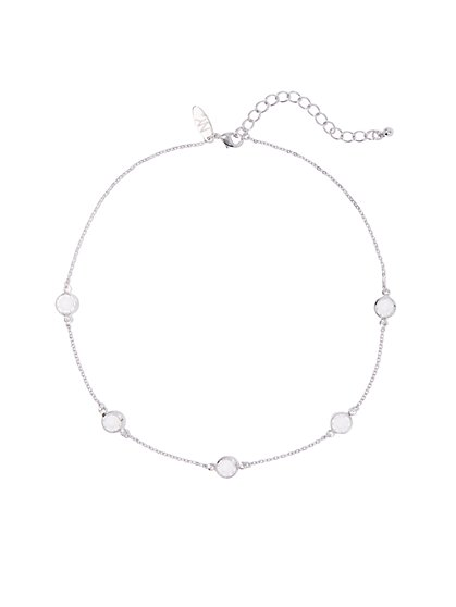 Bezel-Set Cubic Zirconia Necklace - New York & Company