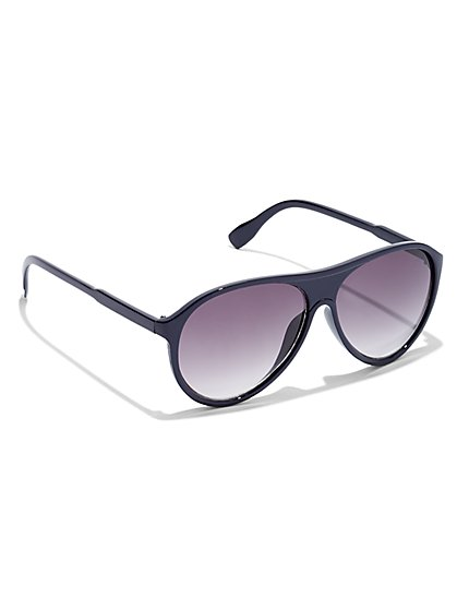 Black Aviator Sunglasses - New York & Company