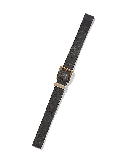 Black Buckled Belt - New York & Company