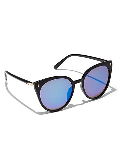 Black Cat-Eye Sunglasses - New York & Company
