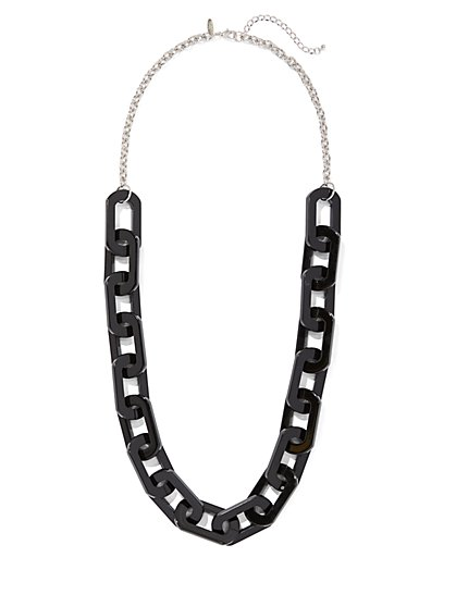 Black Chain-Link Necklace - New York & Company