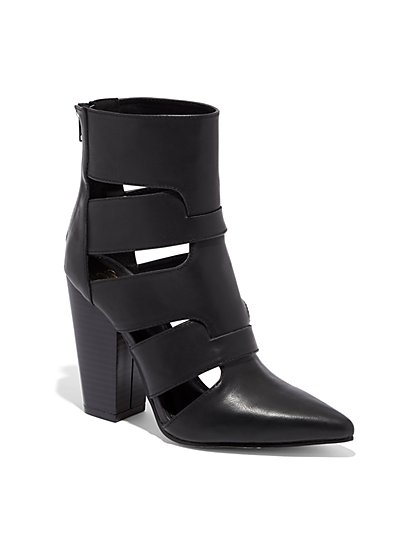 Black Cutout Bootie - New York & Company