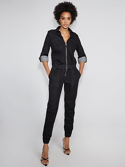 Black Denim Jumpsuit - Gabrielle Union Collection - New York & Company