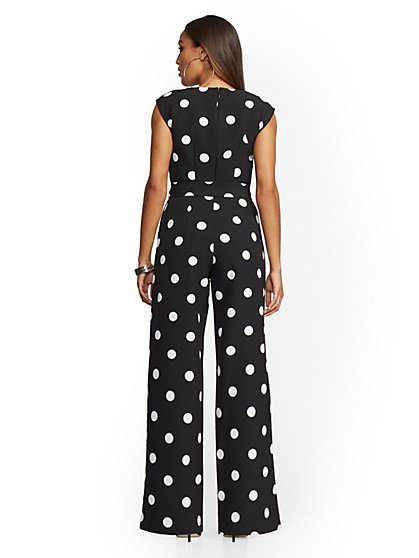 85a7489ba6fe ... Black Dot-Print Jumpsuit - New York   Company