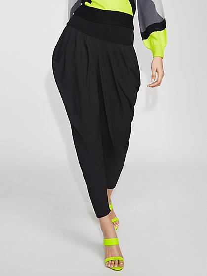 Black Draped Jogger Pant - Gabrielle Union Collection - New York & Company
