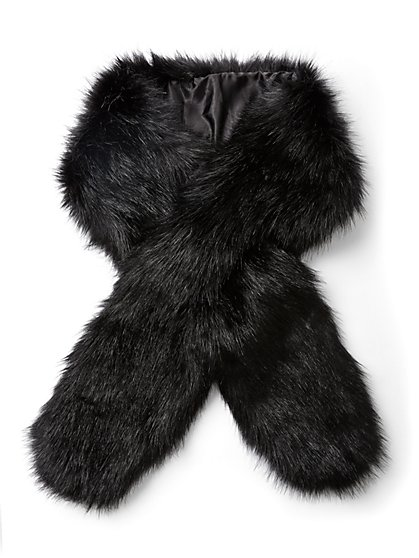 Black Faux-Fur Stole - New York & Company