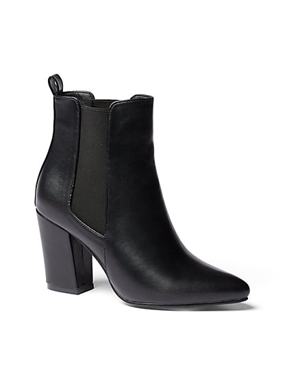 Black Faux-Leather Bootie - New York & Company