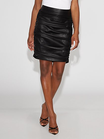 Black Faux-Leather Mini Skirt - Gabrielle Union Collection - New York & Company