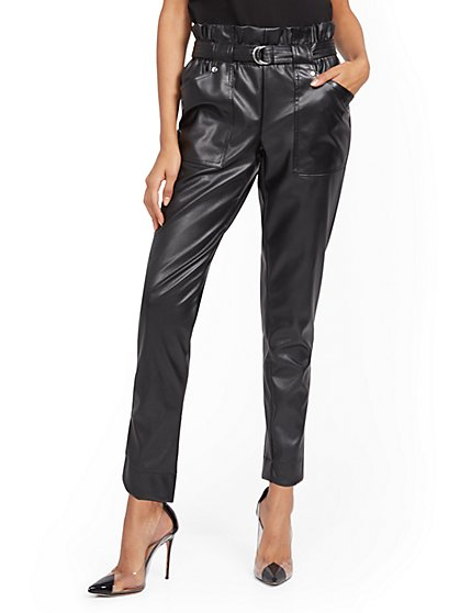 Black Faux-Leather Pant - New York & Company