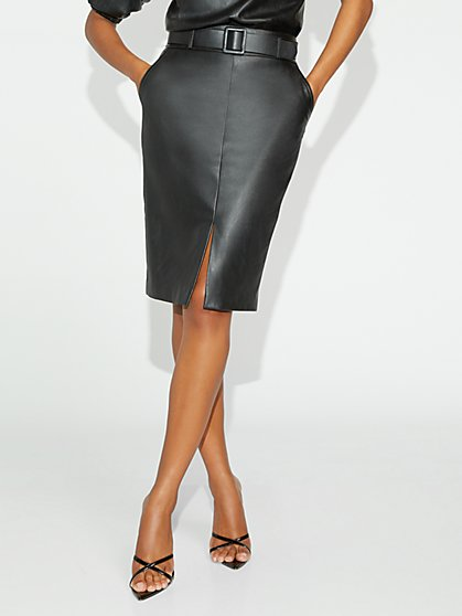 Black Faux-Leather Skirt - Gabrielle Union Collection - New York & Company