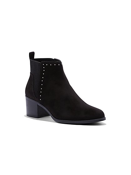Black Faux-Suede Chelsea Boot - New York & Company