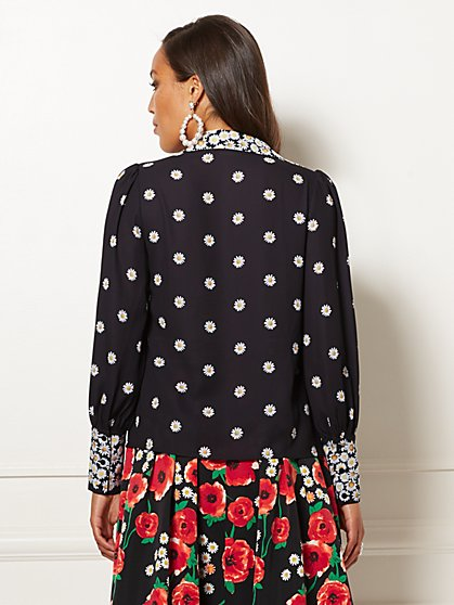 ca638fdad0361 ... Black Floral Candra Blouse - Eva Mendes Collection - New York   Company  ...