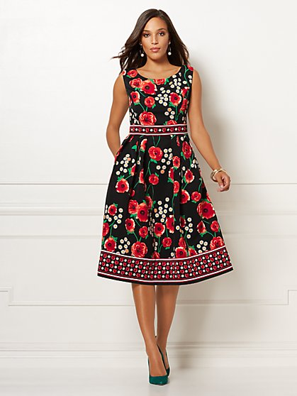 Black Floral Sherie Dress - Eva Mendes Collection - New York & Company