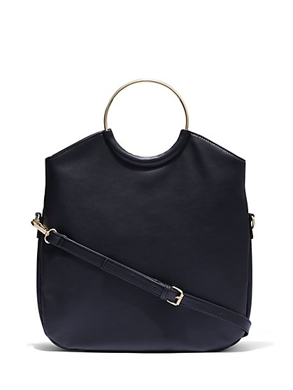 Black Foldover Hobo Bag - New York & Company