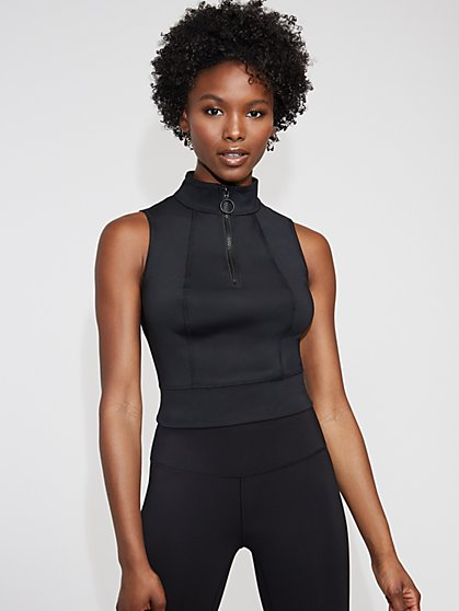 Black Half-Zip Top - Gabrielle Union Collection - New York & Company