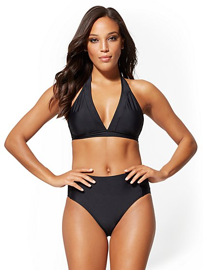 Black Halter Bikini Top - NY&C Swimwear - New York & Company