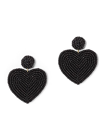Black Heart Drop Earring - New York & Company