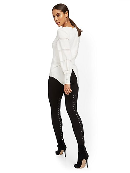 Black Lace-Up Legging - New York & Company