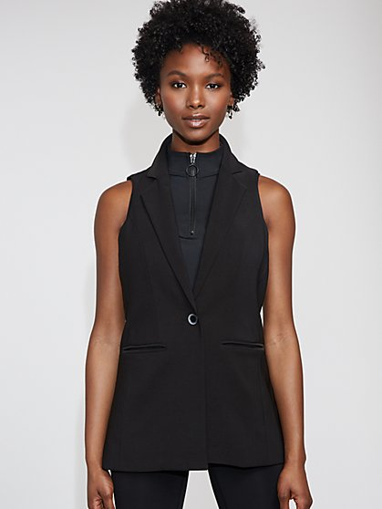 Black Long Vest - Gabrielle Union Collection - New York & Company