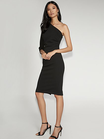Black One-Shoulder Sheath Dress - Gabrielle Union Collection - New York & Company