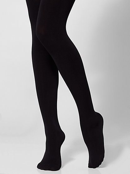 Black Opaque City Tights - New York & Company