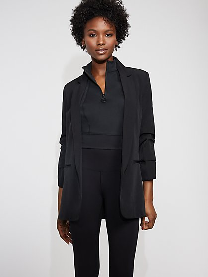 Black Pleated-Sleeve Blazer - Gabrielle Union Collection - New York & Company