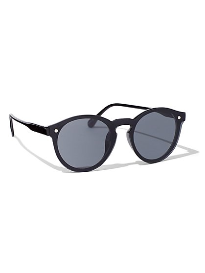 Black Round-Lens Sunglasses - New York & Company